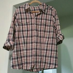NWOT Riders by Lee plaid button down shirt
